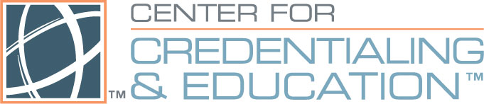The Center for Credentialing and Education (CCE) logo